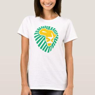 Camiseta azul amarilla principal de las mujeres de