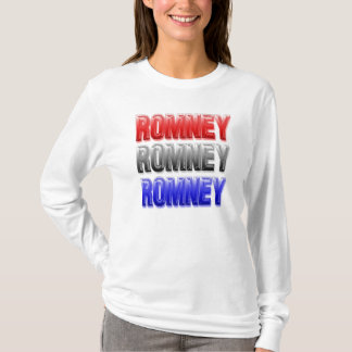 Camiseta azul blanca roja de Romney