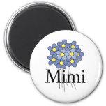 Camiseta azul bonita de la flor Mimi Iman De Nevera