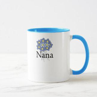 Camiseta azul bonita de Nana de la flor