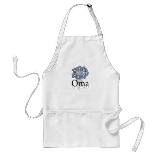 Camiseta azul bonita de Oma de la flor Delantal