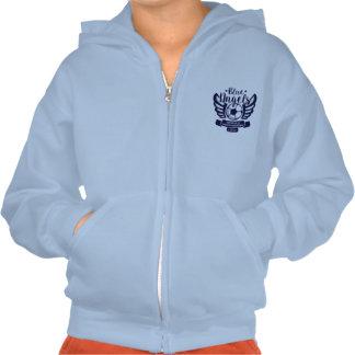 Camiseta azul clara del fútbol de los ángeles CHSA Pulóver Con Capucha