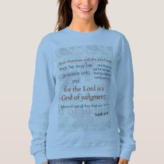 Camiseta azul clara del verso de la biblia del polera