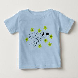 Camiseta azul claro del bebé del transbordador playeras