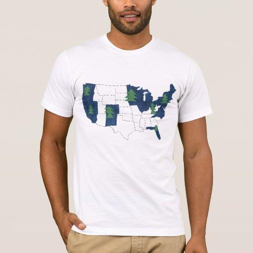 Camiseta azul de América (para una América verde)