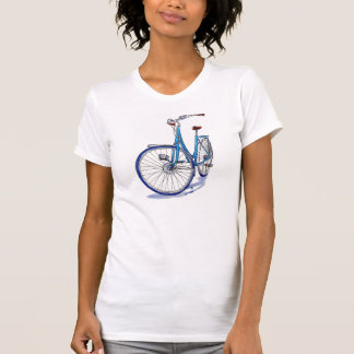 Camiseta azul de la bicicleta
