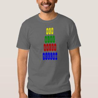 Camiseta azul de la camiseta de moda, verde, remeras
