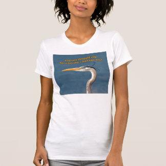 Camiseta azul de la garza