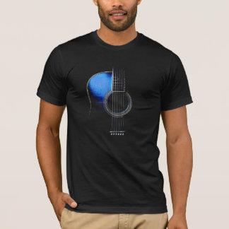 Camiseta azul de la guitarra acústica (véase la