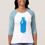 Camiseta azul de la leche