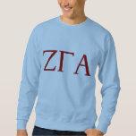 Camiseta azul de la letra de la fraternidad alfa sudaderas encapuchadas