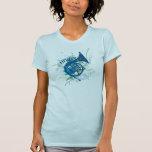 Camiseta azul de la música del Grunge del cuerno