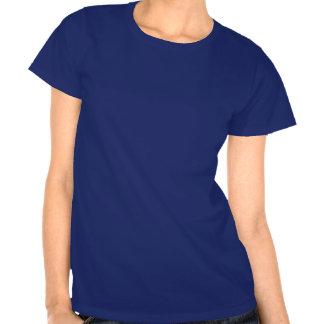 Camiseta azul de la paloma mensajera del dibujo