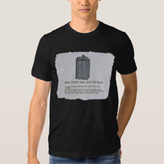 Camiseta azul de la parodia de la caja de llamada playera