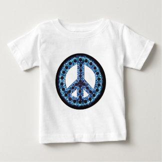 camiseta azul de la paz polera