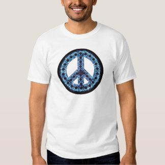 camiseta azul de la paz poleras
