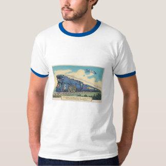 Camiseta azul de la postal del cometa poleras