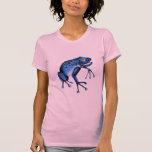 Camiseta azul de la rana de la diversión