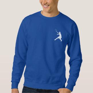 Camiseta azul de la ropa el   del tenis de los sudadera