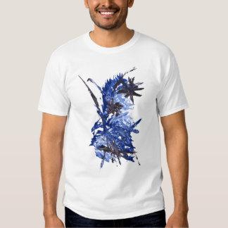 Camiseta AZUL de la SALPICADURA de la PINTURA Polera