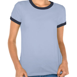 Camiseta azul de las señoras del Wakeboarder