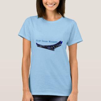 Camiseta azul de los escritores de la canoa