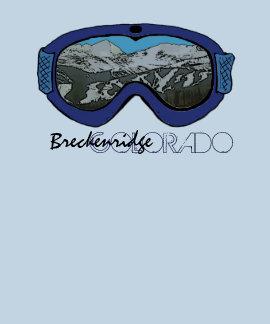 Camiseta azul de los individuos de las gafas de Br
