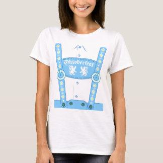 Camiseta azul de los Lederhosen de Oktoberfest