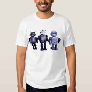 camiseta azul de los robots camisas