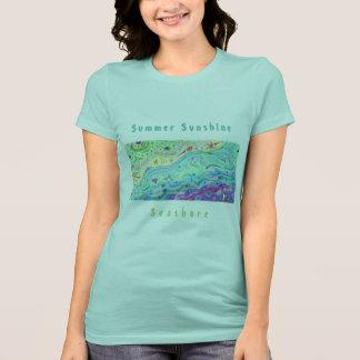 Camiseta azul de Seafoam de las mujeres: