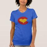 Camiseta azul del amor de Colorado