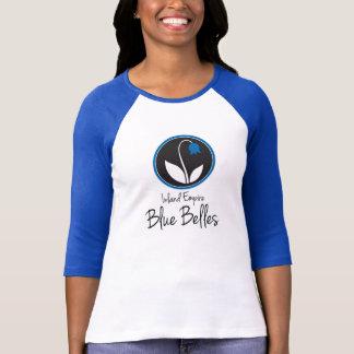 Camiseta azul del bloque del color de las bellezas playera