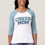 Camiseta azul del brillo de la mamá de la alegría