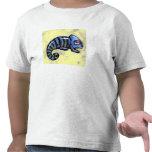 Camiseta azul del camaleón