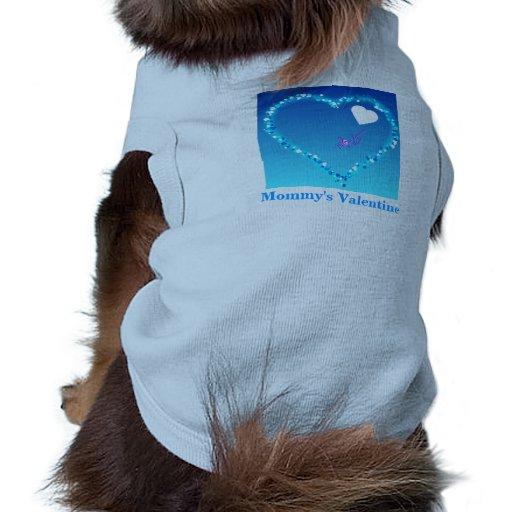 Camiseta azul del campanero del perrito de la tarj camisetas mascota