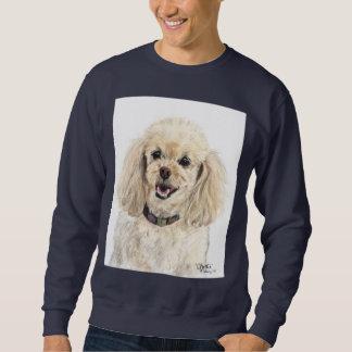 Camiseta azul del caniche suéter