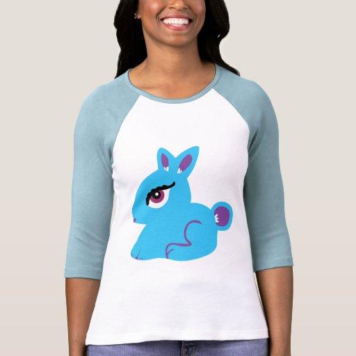 Camiseta azul del conejito