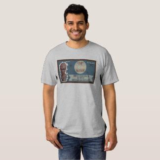 Camiseta azul del dril de algodón NUBIA Remera