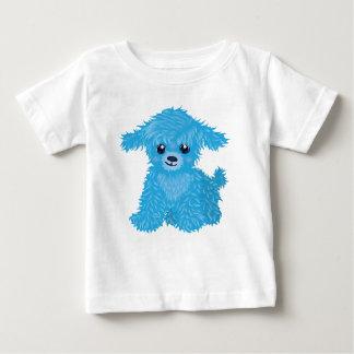 Camiseta azul del niño del perrito