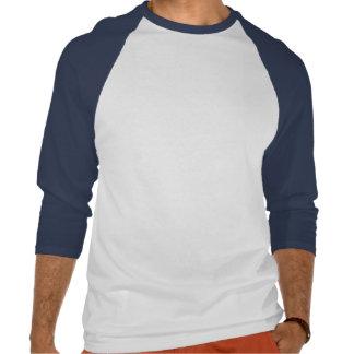 Camiseta azul del pájaro de la garza