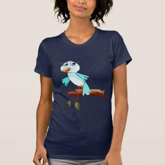 Camiseta azul del pájaro de la primavera camisas