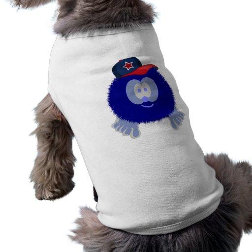 Camiseta azul del perro de la gorra de béisbol camiseta de mascota