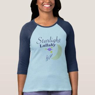 Camiseta azul del raglán de la nana de la luz de camisas