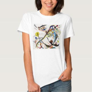 Camiseta azul del segmento de Kandinsky Playeras