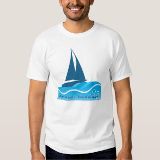 Camiseta azul del velero poleras