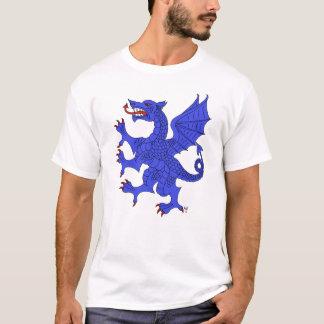 Camiseta (azul) desenfrenada del dragón
