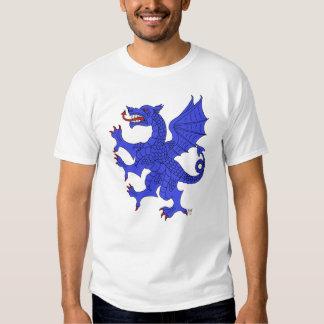 Camiseta (azul) desenfrenada del dragón polera