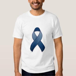 Camiseta azul marino de la cinta de la conciencia remeras