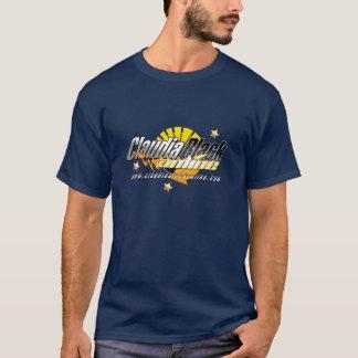 Camiseta azul marino en línea negra de Claudia