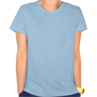 Camiseta azul para mujer del signo de la paz del